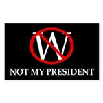W: Not My President (bumper sticker)