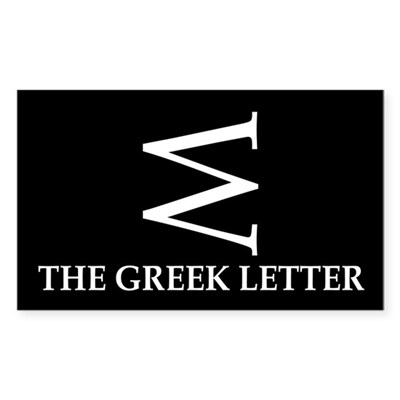 W: The Greek Letter (bumper sticker)