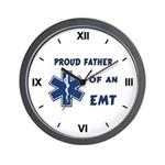 Proud EMT Father Wall Clock