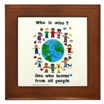 Who is Wise - Framed Tile