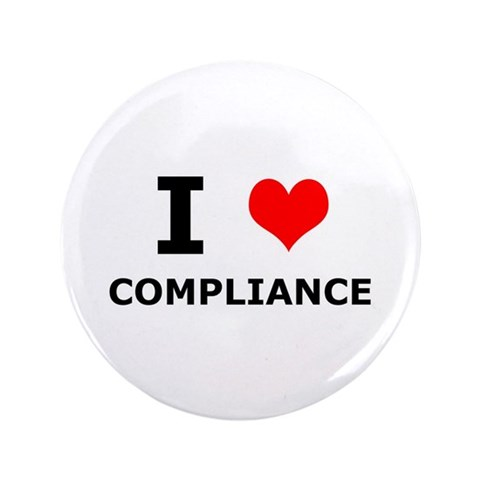 I heart Compliance  Officer 3.5 Button 100 pack by CafePress