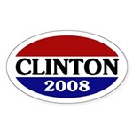 Clinton 2008 (oval bumper sticker)