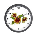 Sunflower Garden Wall Clock