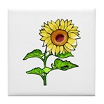 Sunflower Nature Tile Coaster