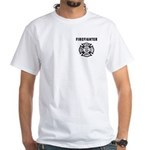 Firefighting Flames White T-Shirt