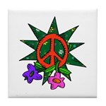 Earth Day Peace Tile Coaster