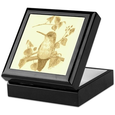Hummingbird   Keepsake Box by CafePress