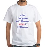 WHAT HAPPENS IN CALIFORNIA White T-Shirt