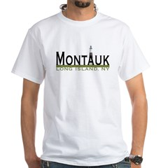 Montauk, Long Island White T-Shirt