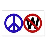 Peace Sign Anti-Bush bumper sticker