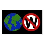 Earth Not W Sticker (Rectangular)