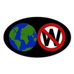 Earth Anti-Bush bumper sticker
