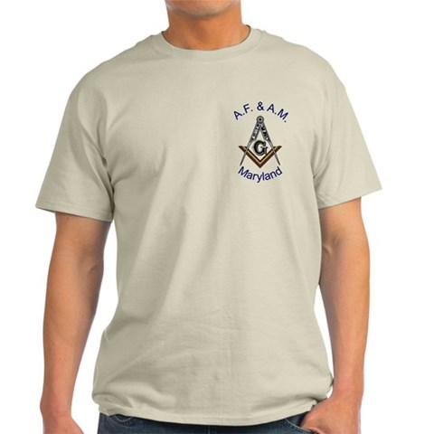 Maryland Square and Compass Military Light T-Shirt by CafePress