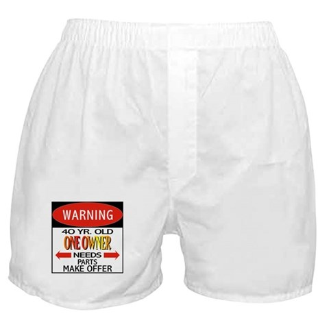 40 Year Old  40th birthday Boxer Shorts by CafePress