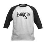 Rescued My Beagle Kids Baseball Jersey