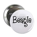"Rescued My Beagle 2.25"" Button (10 pack)"