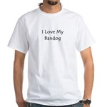 I Love My Bandog White T-Shirt