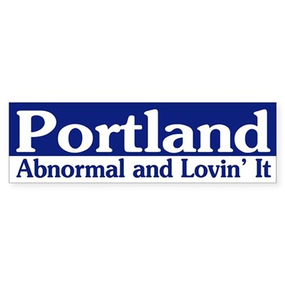 Portland Abnormal bumper sticker