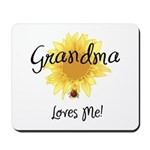Grandma Loves Me Mousepad