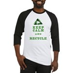 keep calm and recycle earth day sh Baseball Jersey