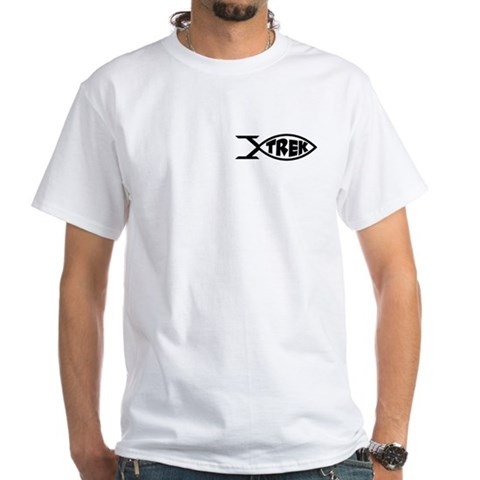 Trek Fish Star trek White T-Shirt