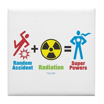 Super Powers Tile Coaster | Gifts For A Geek | Geek T-Shirts
