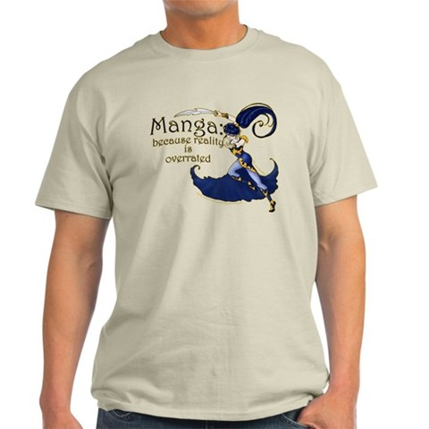 Fun Manga Fan Design  Humor Light T-Shirt by CafePress