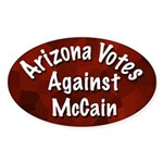 Arizona Votes Against McCain Oval Sticker