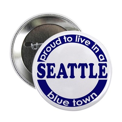 Seattle: Blue Town Button