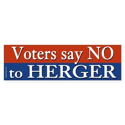 Voters say No to Herger bumper sticker