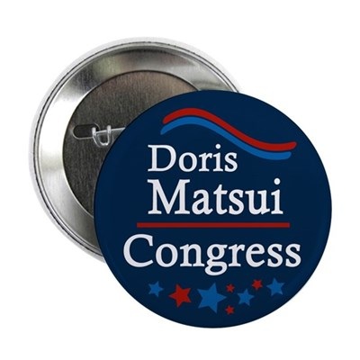 Doris Matsui for Congress campaign button