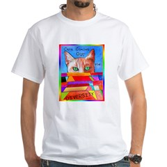 Cats Come Out for Diversity White T-Shirt