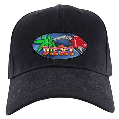 - Diesel Weed 420 Black Cap by CafePress