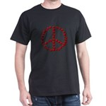 Red Peace Hearts T-Shirt