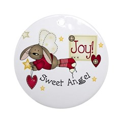 Angel Bunny Christmas ornament