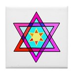Jewish Star Tile Coaster