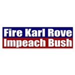 Fire Karl Rove (bumper sticker)