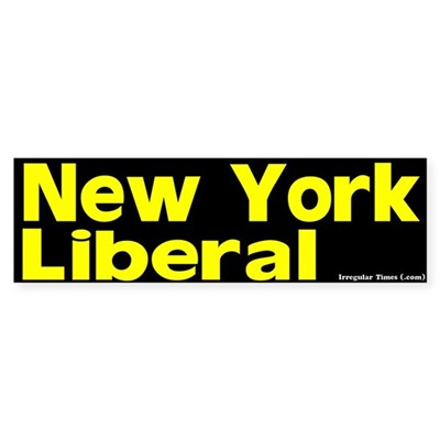 New York Liberal Bumper Sticker