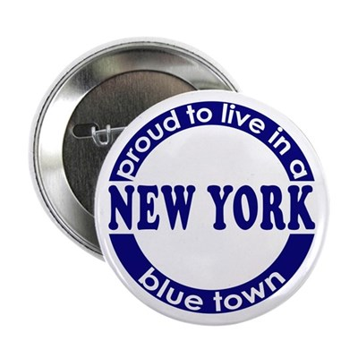 New York City: Blue Town Button
