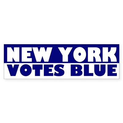 New York Votes Blue bumper sticker