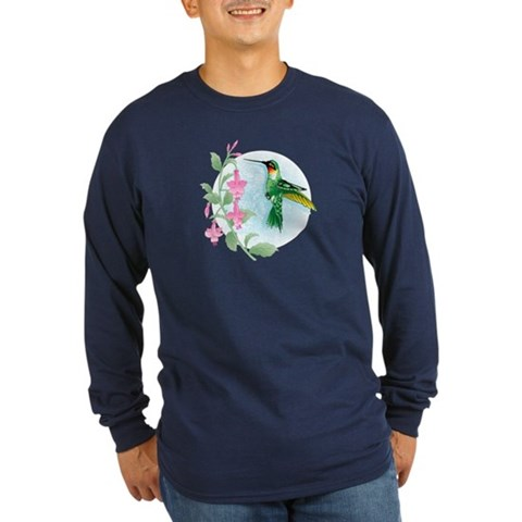 FUCIA HUMMINGBIRD  Bird Long Sleeve Dark T-Shirt by CafePress