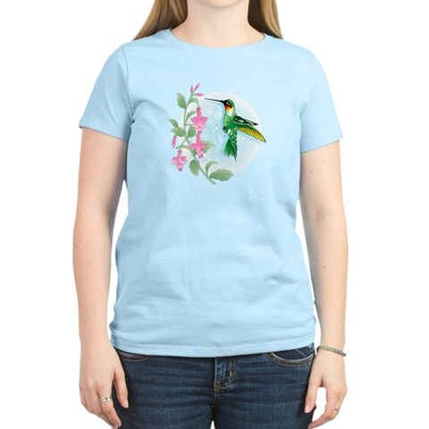 FUCIA HUMMINGBIRD  Bird Women's Light T-Shirt by CafePress