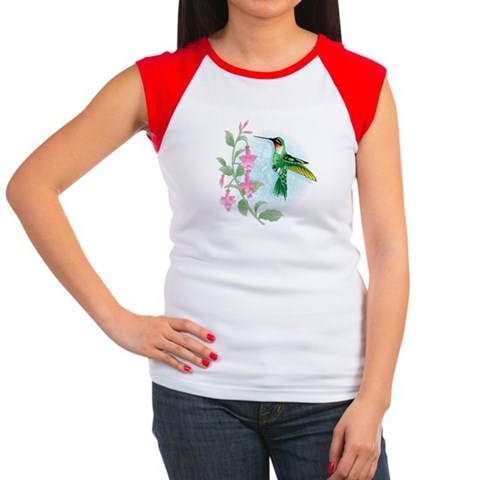 FUCIA HUMMINGBIRD  Bird Women's Cap Sleeve T-Shirt by CafePress