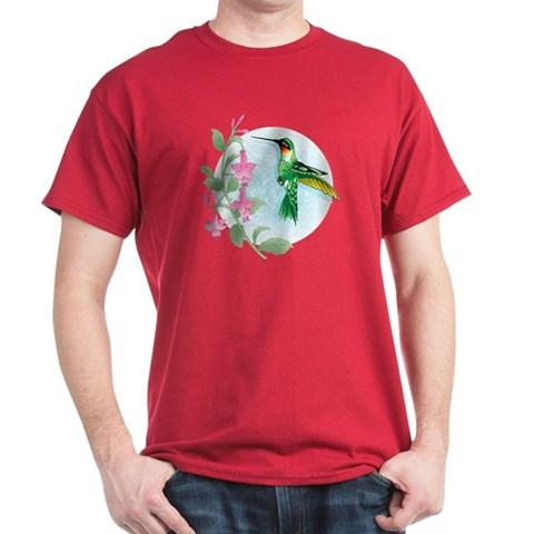 FUCIA HUMMINGBIRD  Bird Dark T-Shirt by CafePress