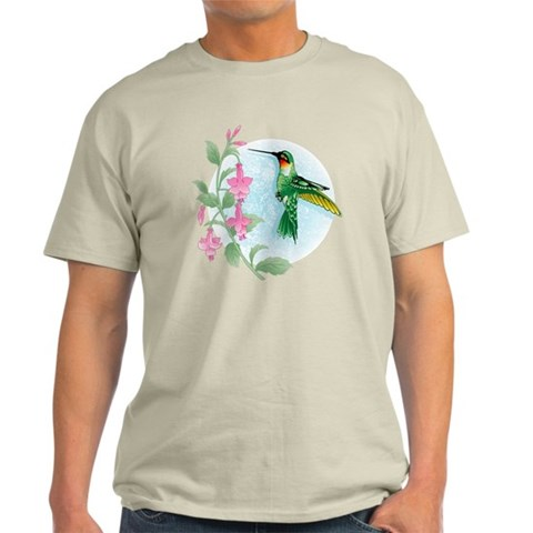 FUCIA HUMMINGBIRD  Bird Light T-Shirt by CafePress