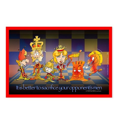 - Chess pieces cartoon Funny Postcards Package of 8 by CafePress