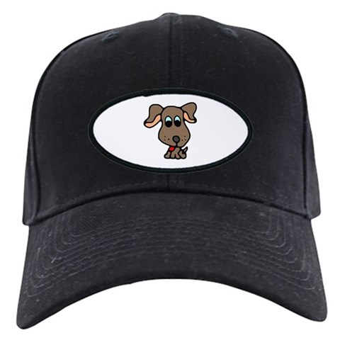 Cute Puppy Brown Black Cap by CafePress