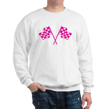 Pink Checkered Flags Sweatshirt