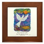 What Peace Means - Framed Tile