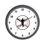 Baseball Player Wall Clock